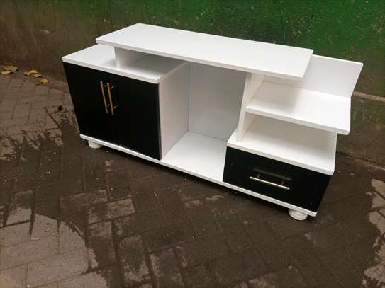 tv stand black and white 56080m image 1