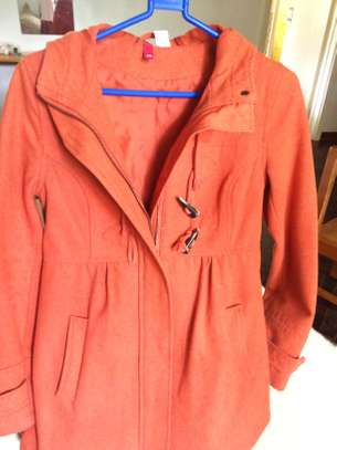 Warm ORANGE winter Jacket / Coat image 4