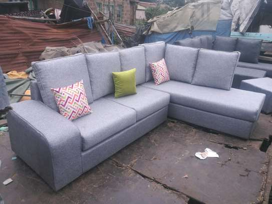 Ready Made Beautiful Contemporary Quality 6 Seater Sectional Sofa + Footrest/Puff/Ottaman image 1