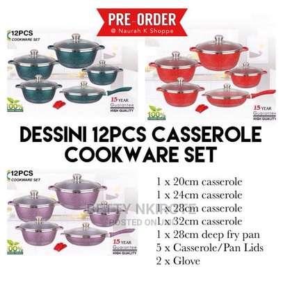 Dessini Granite Non Stick Cooking Pot Colored 12pc image 3