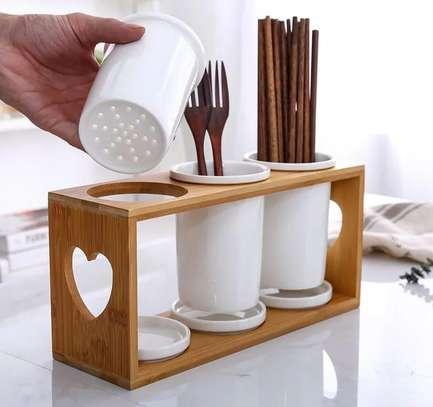 Ceramic cutlery organizer image 1
