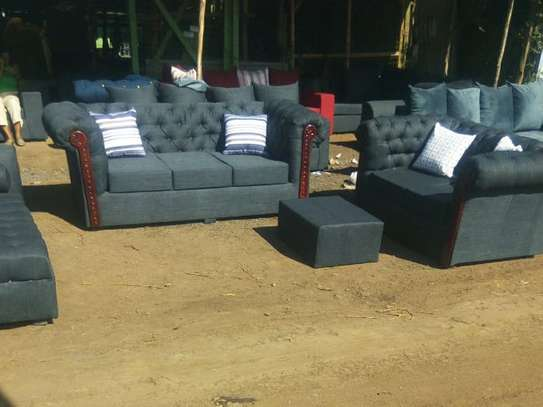 6 seater Chester sofa Set ( 3+2+1) image 3