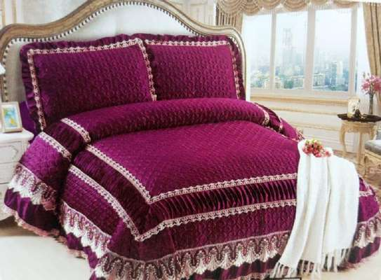 bed covers wine red