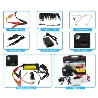 Car Jump Starter Power bank Battery with Air compressor 68800mAH Multi functional image 2