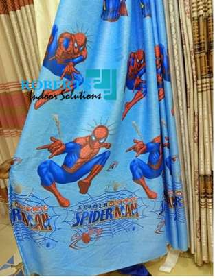 animated spider man kids curtains image 1