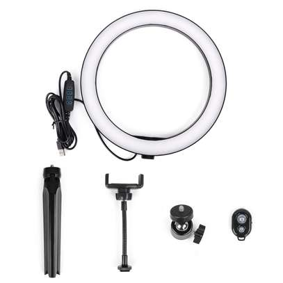 10 Inch LED Ring Light with Tripod Stand, 3 Color Modes and 10 Brightness, Ideal Ring Light for Streaming, Photography Lighting image 3