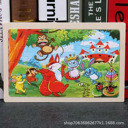 4PCS/3D Wooden Jigsaw Puzzles for Children Kids Toys Cartoon Animal/Traffic Puzzles Baby Educational Puzles image 15