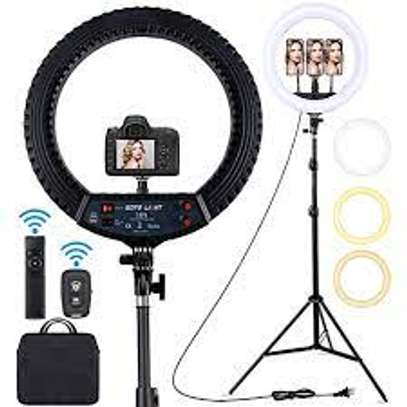 18 inch Ring Light with 1.8 meter tripod stand image 1