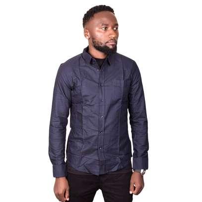 Dark Blue Cotton Shirt image 1