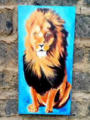 Art lion acrylic painting image 4