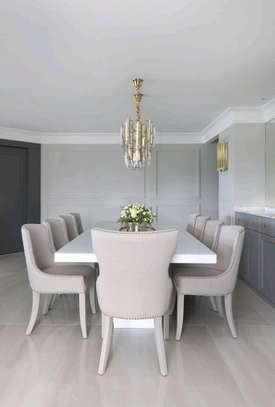 Eight seater rectangular dining tables for sale in Nairobi Kenya/white dining table set image 1