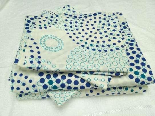 bed sheet blue prints image 1