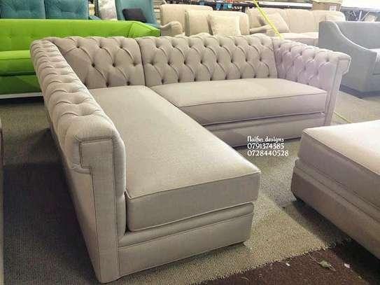 L shaped sofas/Tufted sofas image 1