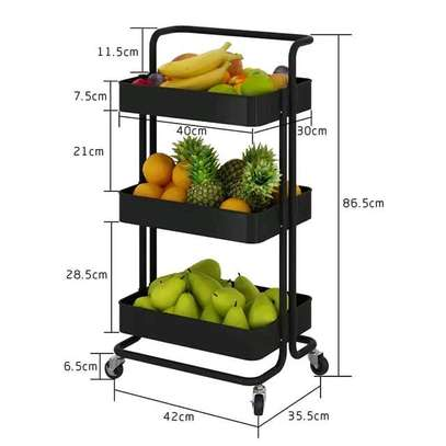 Movable Trolley 3 tier image 2