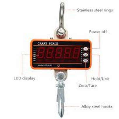 Hanging Weight Scale   Digital Crane Scale   1100Lb/500KG LCD Digital Electronic Weighing Scale with Adapter   Hoyer Patient Lift for Hunting, Outdoor, Bass Fishing, Big Game, Farm, Large Luggage image 1
