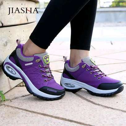 Purple authentic ladies fashion sneakers image 1