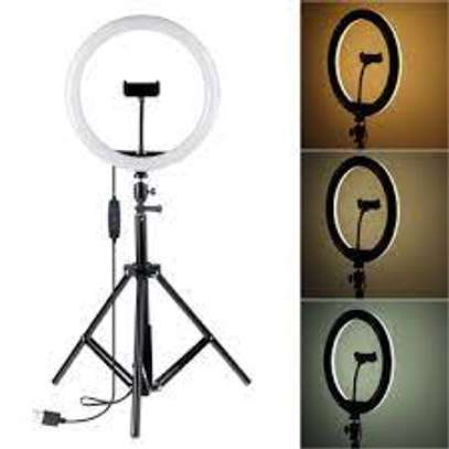 12 Inch Led Ring Light With 2.1meters Tripod Stand image 1