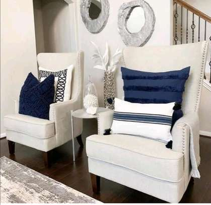 WING SOFA IN WHITE 2/1 SEATER SOFA image 1