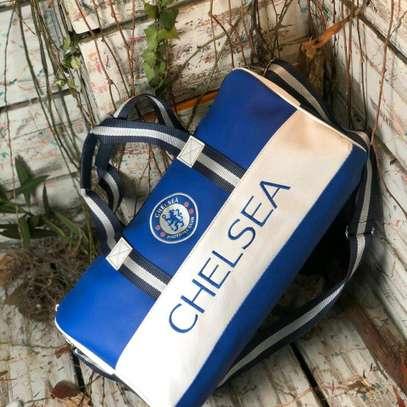 Blue and white Chelsea duffle bags image 1