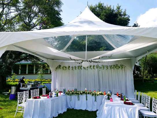 Clean Hexagon tent for hire image 2