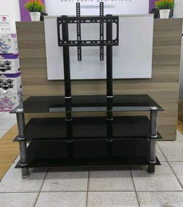Glass TV Stand with TV Mount image 2