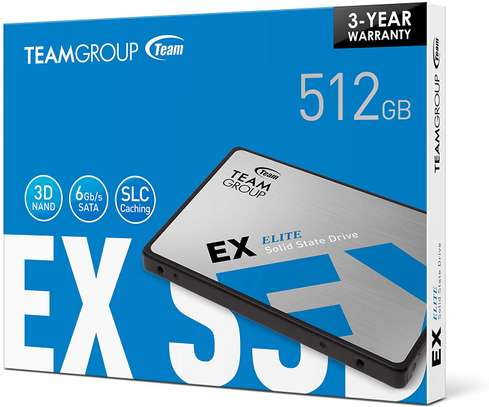TEAMGROUP EX2 512GB SSD 2.5 Inch SATA III Internal Solid State Drive image 1