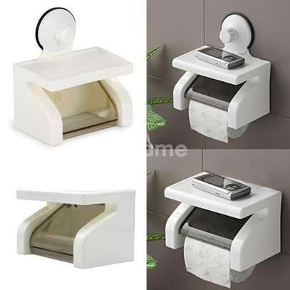 Waterproof Tissue Holder With Phone Holder N Suction image 3