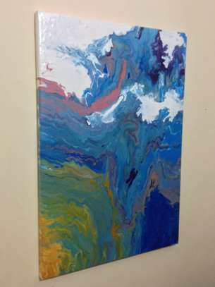 Acrylic Pour Canvas Painting