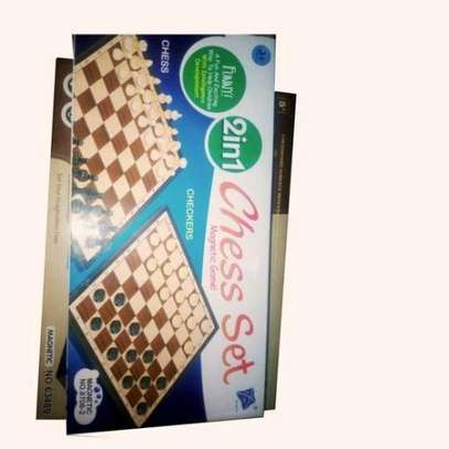 Generic 2in1 MAGNETIZED CHESS AND CHECKERS BOARD GAME