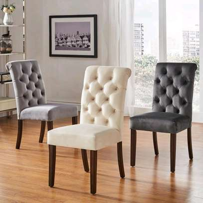 Beautiful Modern Quality Tufted Dining Chairs image 1