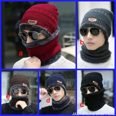 Unisex warm scarf /Marvin set image 1