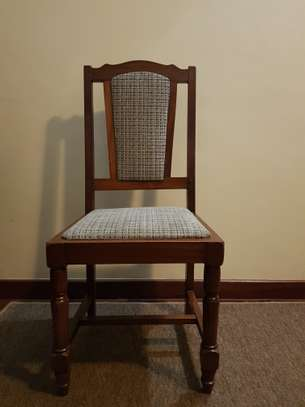 Dining Set of 6 Hardwood dining chairs & table image 3