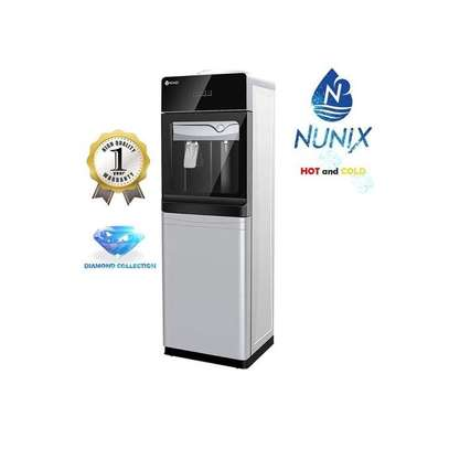 Nunix Hot and Cold Water Dispenser Glass Top R23 SILVER