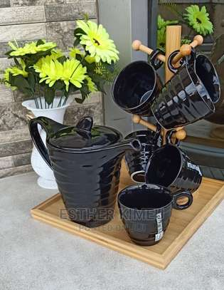 Tea Set With Bamboo Stand image 1