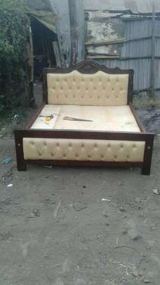 5*6 Leather Bed image 1