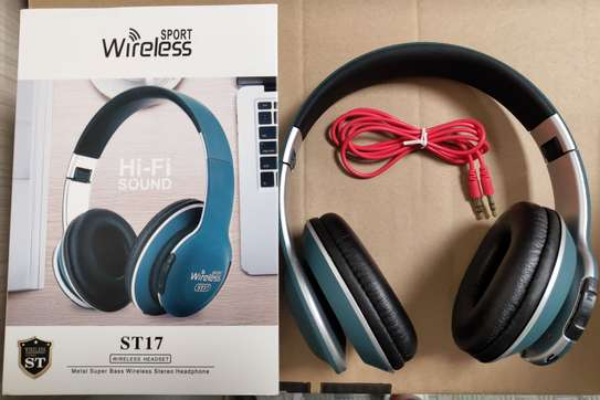 Wireless Bluetooth Headphones With  Card Radio Function image 4