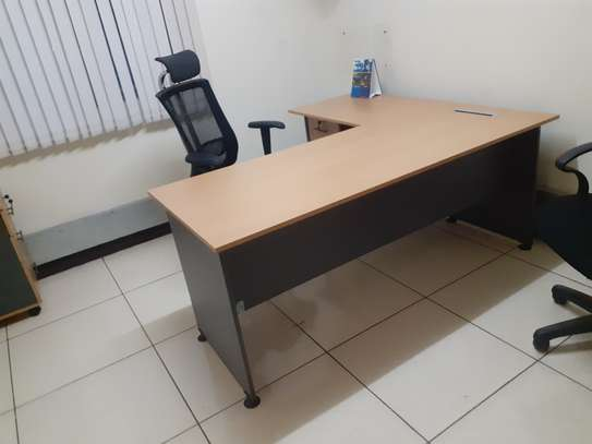 L-Shaped Executive Desk 1.6Meter Ksh. 23,500.00 With Free Delivery image 5