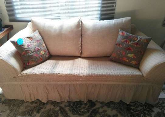 beige 7 seater sofa covers image 1