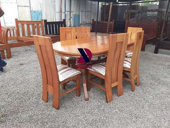 Oval 6 Seater Dining Table Set (401) image 14