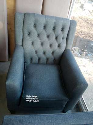 One seater sofa/single seater sofas/tufted wingback chair image 1