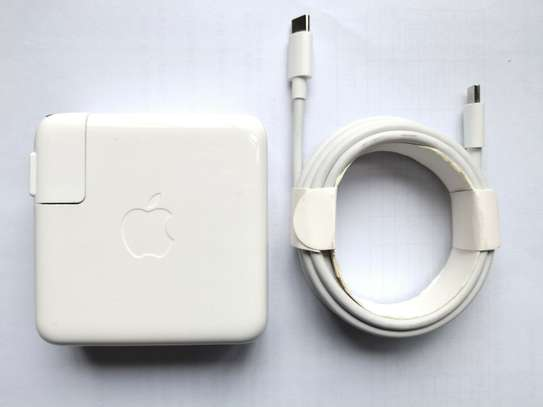 """Original 61W USB-C Power Charger Type C Adapter for MacBook PRO 13"""" A1718 +Cable image 1"""