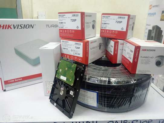 Hikvision 4 CCTV CAMERA FULL PACKAGE 1.3 MP With Night Vision image 1