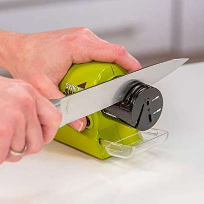 Motorized knife Sharpener Electric Cordless Multi functional blade sharpener image 1