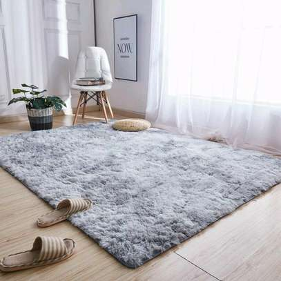 Fluffy Soft Gray Carpet image 1