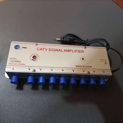 Booster Antenna TV CATV Signal Amplifier 8 Way image 1