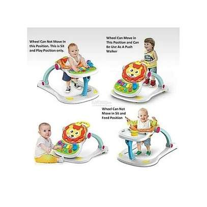 multifunctional musical lion four in one baby walker- Unisex