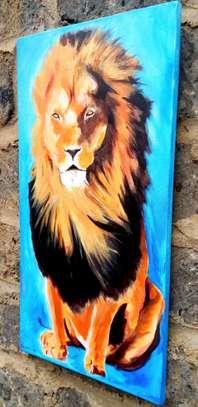 Art lion acrylic painting image 3