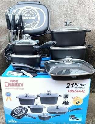 Dessini 21pcs Non Stick  cookware sets image 1