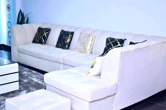 L shaped permanent back sofa image 1