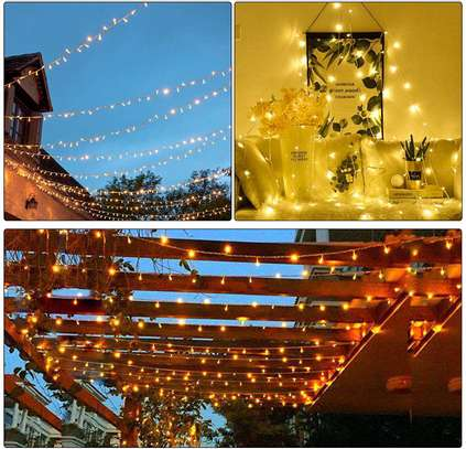 Christmas fairy lights, powered by electronic. Widely use to hanging Christmas tree and toys image 2